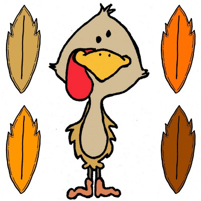 Colorful Turkey Clipart .