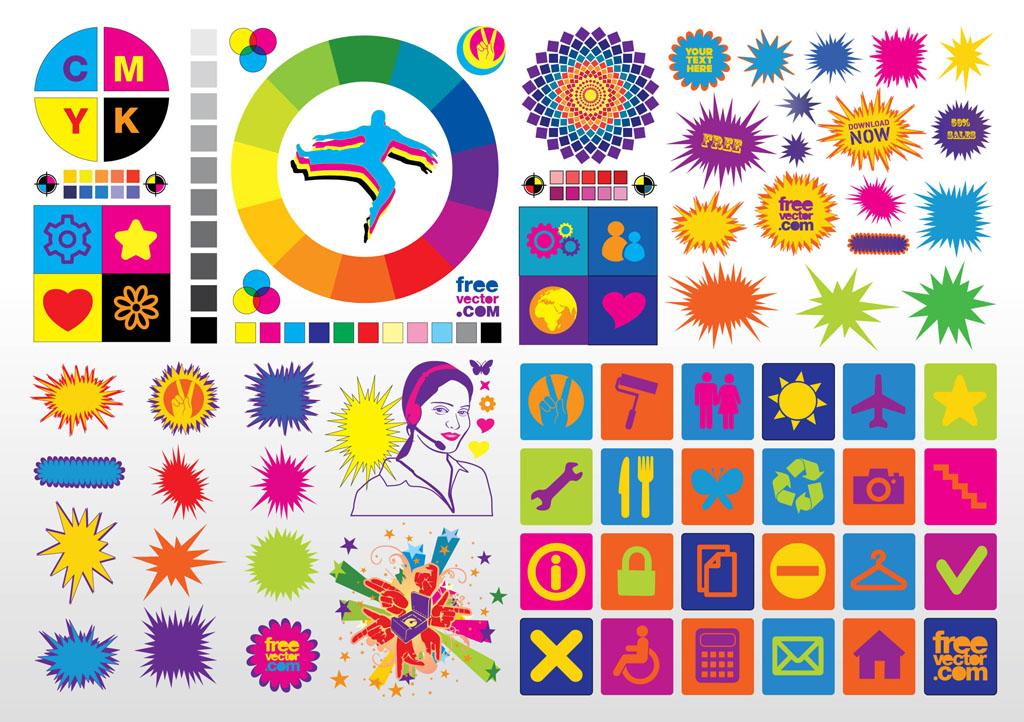 Colorful Vector Clip Art .-Colorful Vector Clip Art .-7