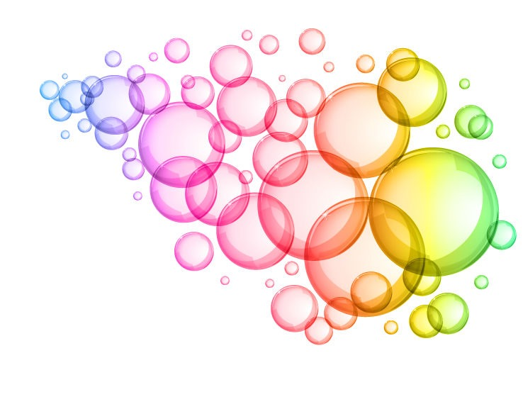 Colorful Water Bubbles Clipart