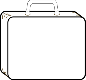 Colorless Suitcase. » suitcase clipart-Colorless Suitcase. » suitcase clipart-7