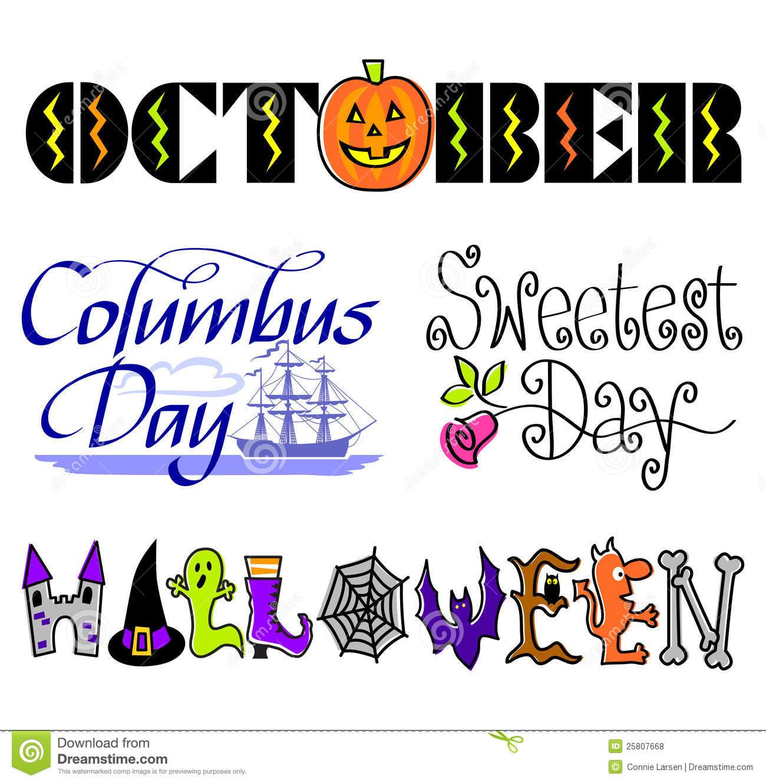 Columbus Day. October Events Clip Art Se-Columbus Day. October Events Clip Art Set/ .-12
