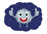 comet meteor cartoon character in outer space clipart. Size: 55 Kb