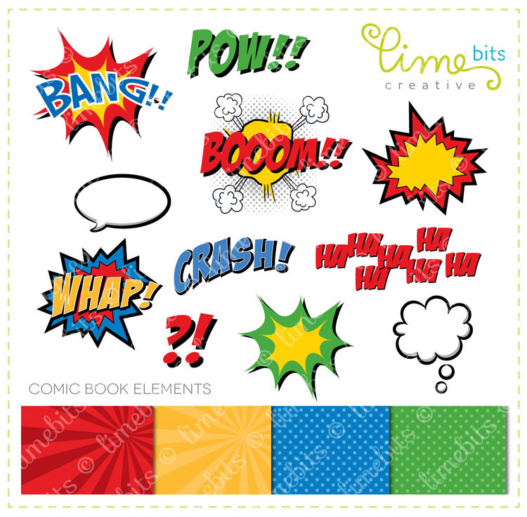 Comic Book Clip Art By Limebitscreative On Etsy