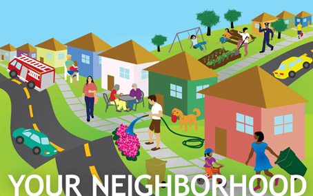 Community And Neighborhood Map Clipart