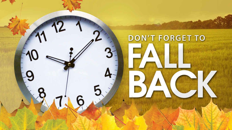 Fall Back Clip Art