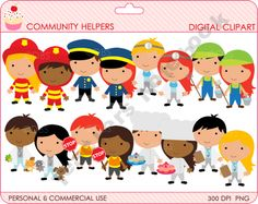Community Helpers Clipart .