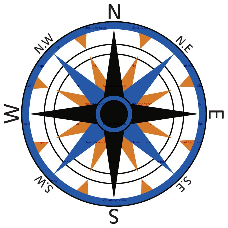 Compass clipart 2