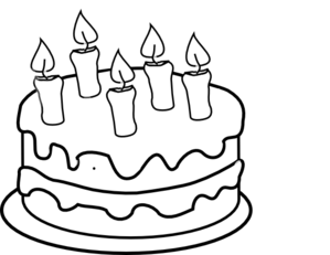 computer clipart black and wh - Black And White Birthday Clip Art