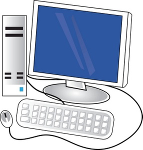 Computer Clipart Image Pc Computer With -Computer Clipart Image Pc Computer With Keyboard Monitor And Tower-11