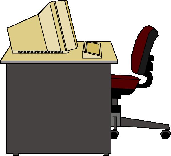 Computer Desk Clipart