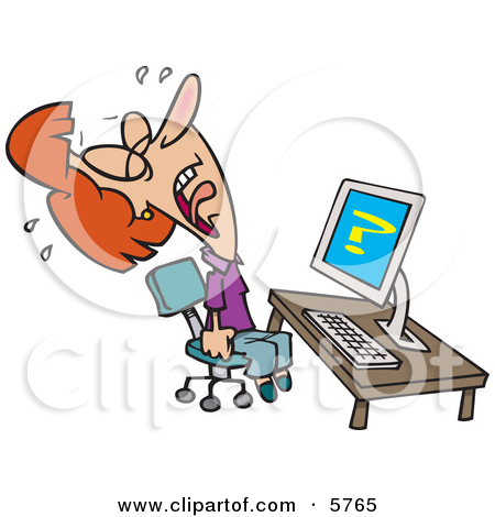 Computer Frustration Clipart # .