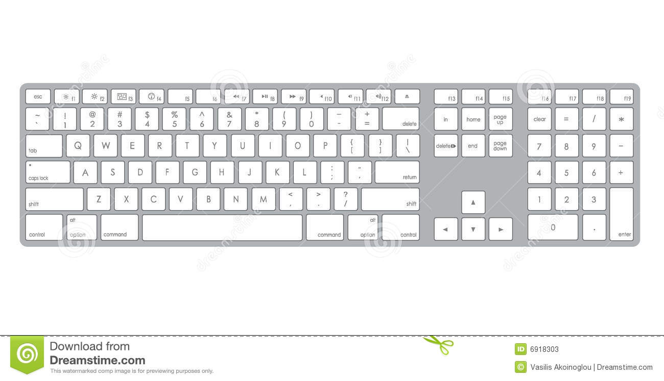 Computer Keyboard Clipart Black And White Computer Keybo