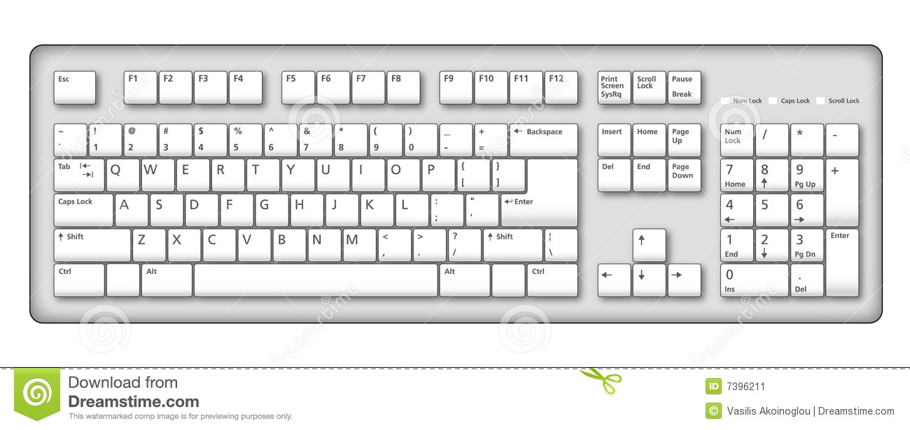 Computer Keyboard Illustration Stock Ima-Computer Keyboard Illustration Stock Image Image 7396211-3