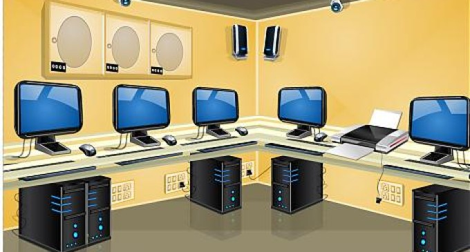 Computer Lab For Prisoners . - Computer Lab Clipart