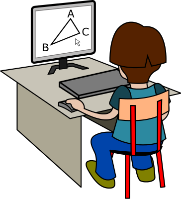 Computer People On Computers Computer Users Desktop Geometry Png Html