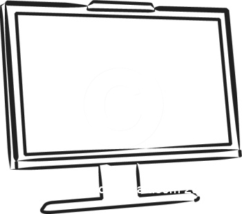 Computer Screen Clipart Black And White -Computer Screen Clipart Black And White Clipart Panda Free Clipart-7