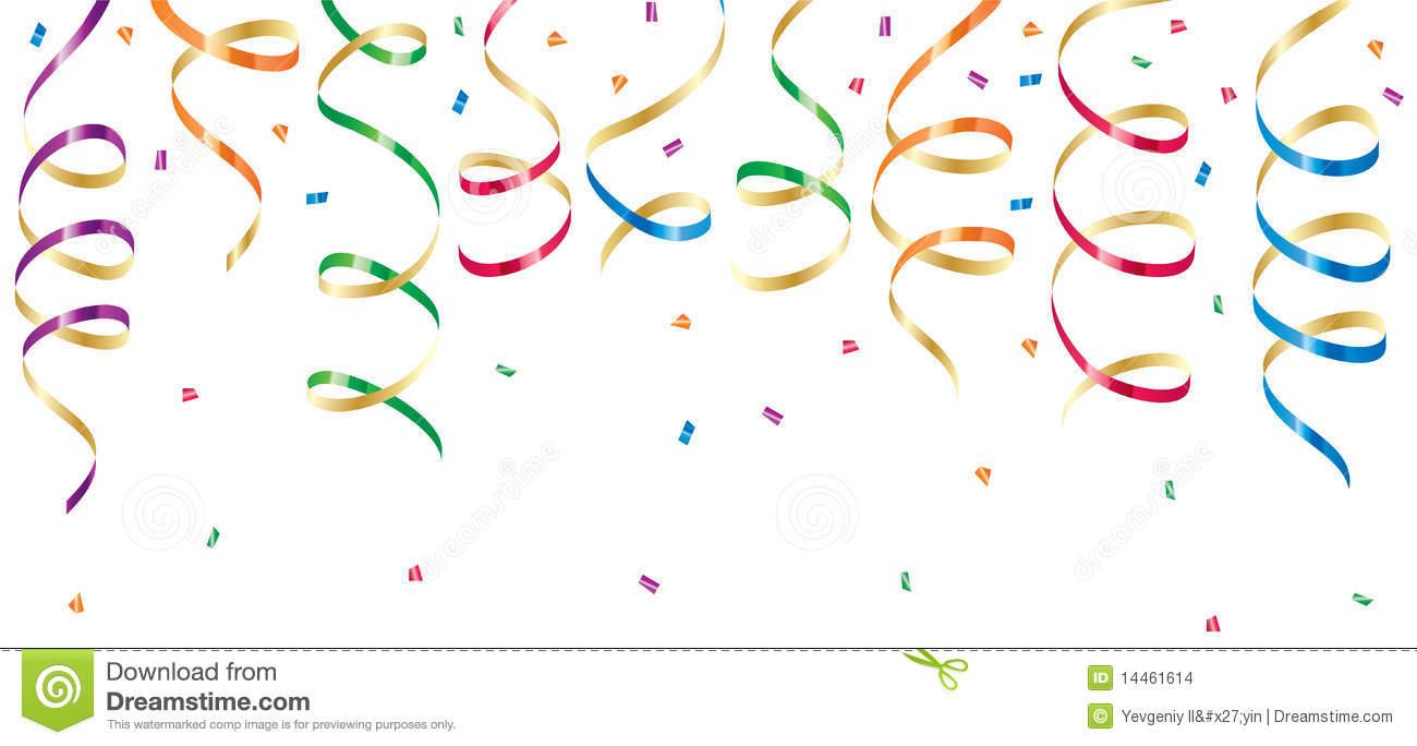 Confetti And Streamers Clipart