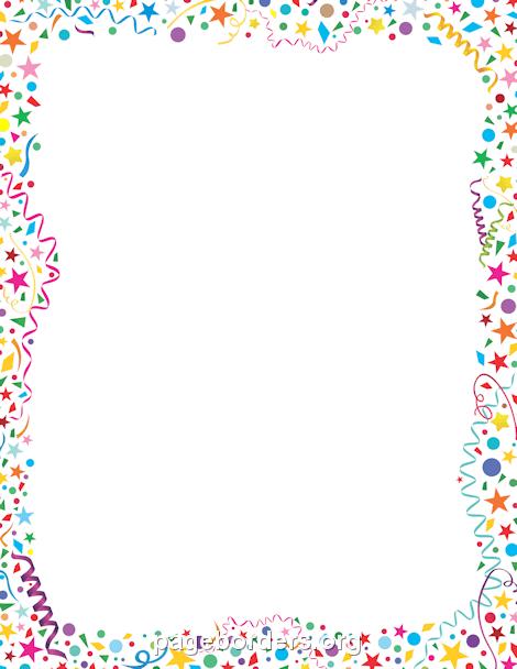 Confetti Border - Birthday Border Clip Art