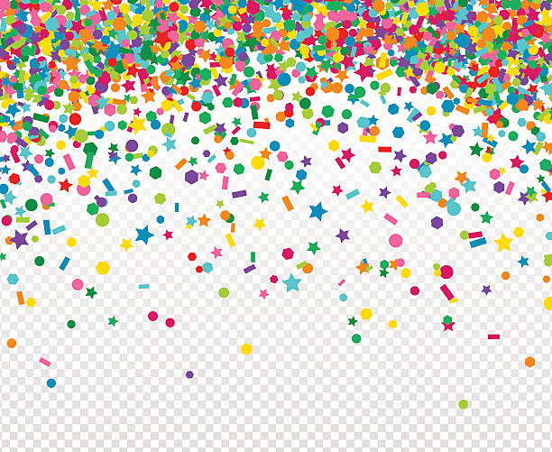 Background with many falling tiny confet-Background with many falling tiny confetti vector art illustration-12