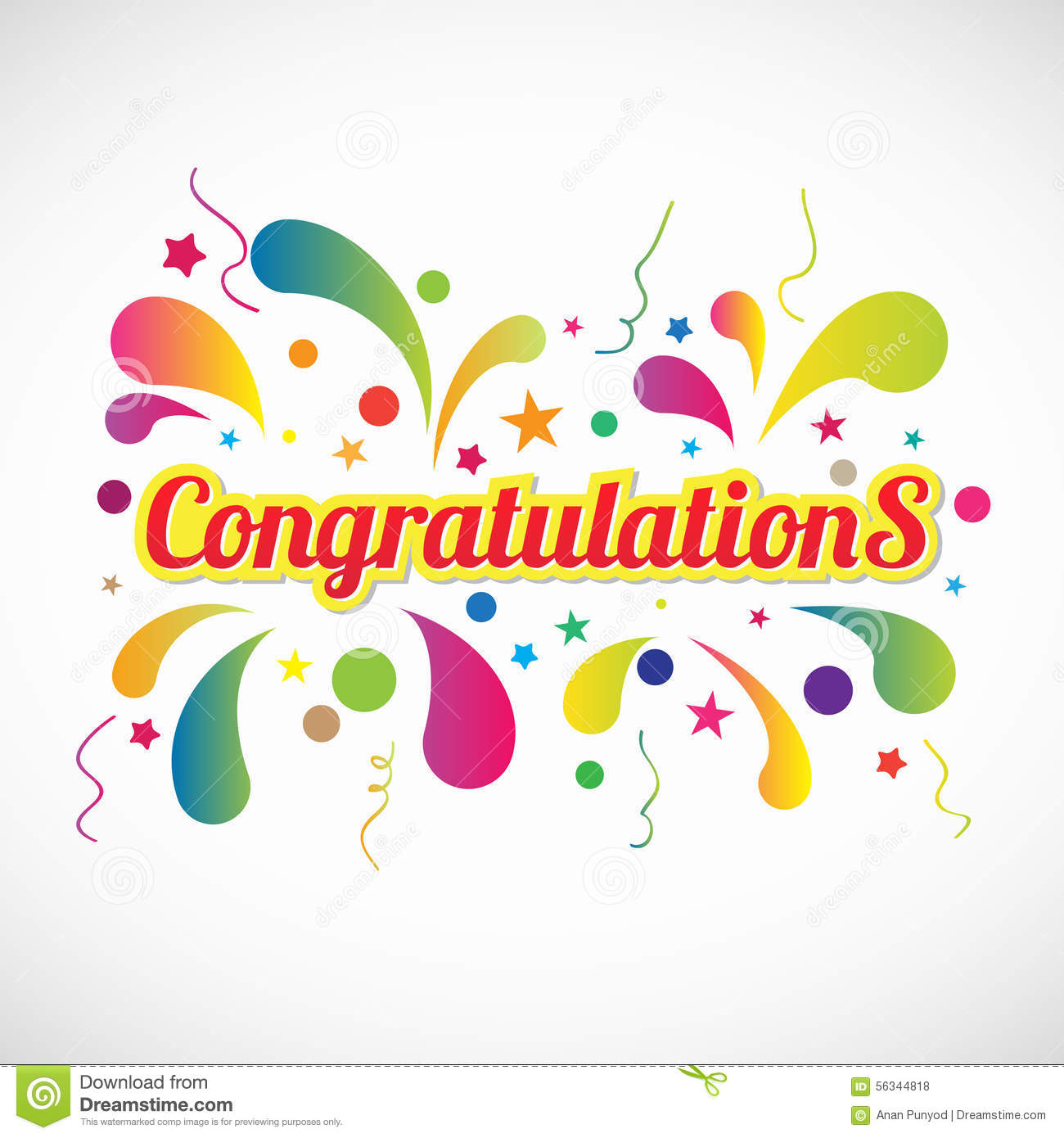 Congratulations Clipart ... Red yellow Congratulations .