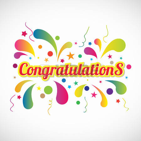 Congratulations: Red Yellow Congratulati-congratulations: Red yellow Congratulations text and fireworks abstract vector-14