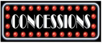 Consession Stand. common concessions. consessions banner