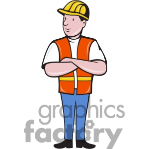 Construction Worker Clipart Black And Wh-construction worker clipart black and white-3