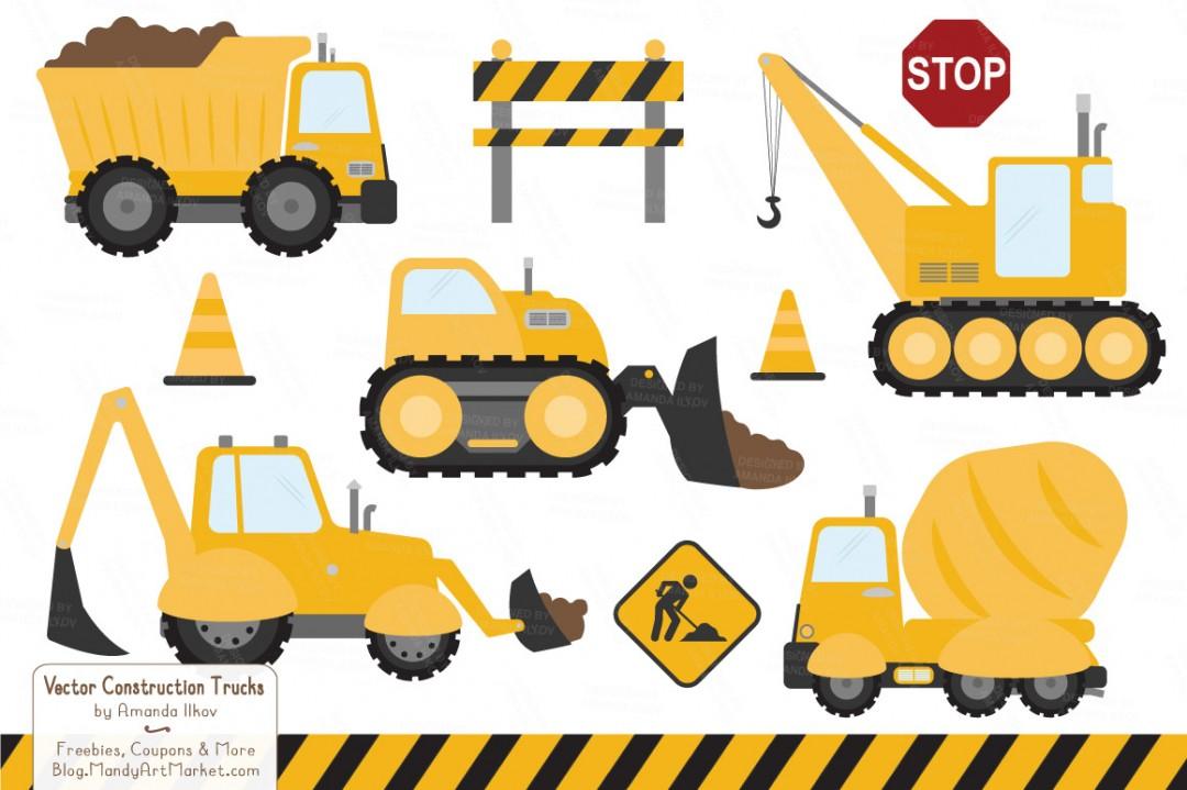 Construction Equipment Clipart .-Construction equipment clipart .-6