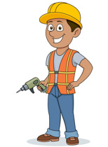 Construction Worker Holding Electric Dri-Construction Worker Holding Electric Drill Clipart Size: 88 Kb-9
