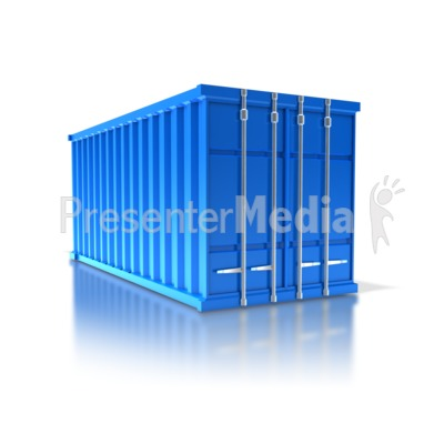 Cargo Container PowerPoint Clip Art