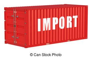 . ClipartLook.com import concept with cargo container isolated on white. ClipartLook.com ClipartLook.com