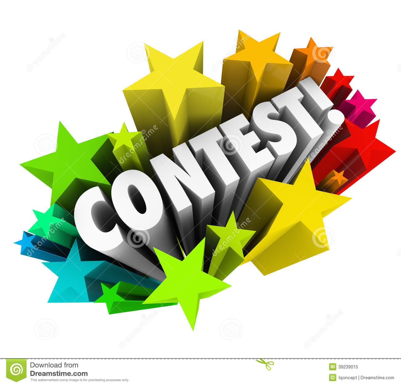 Contest Word Stars Fireworks Exciting Ra-Contest Word Stars Fireworks Exciting Raffle Drawing News Royalty Free Stock Photo-3