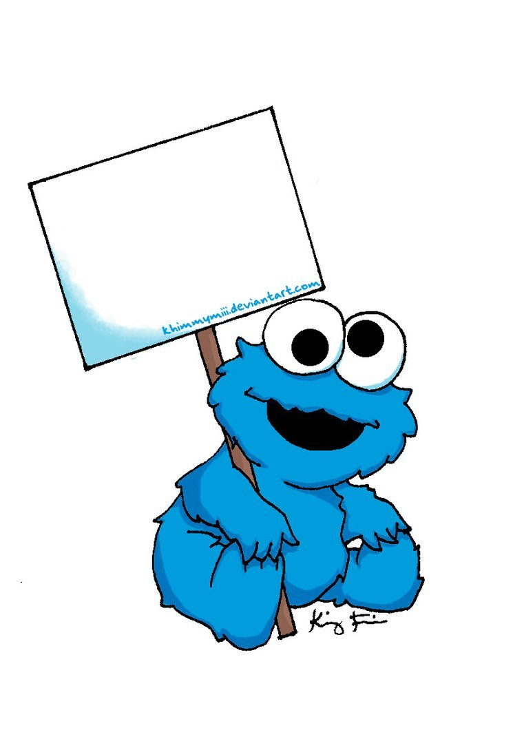 Cookie Monster Clip Art Baby Cookie Monster Sign By Khimmymiii D3hhrao