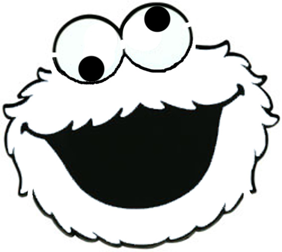 Cookie Monster Face Template Clipart Free Clipart