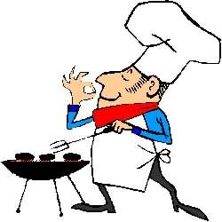 Cooking On The Barbecue Grill - Bbq Clipart Free