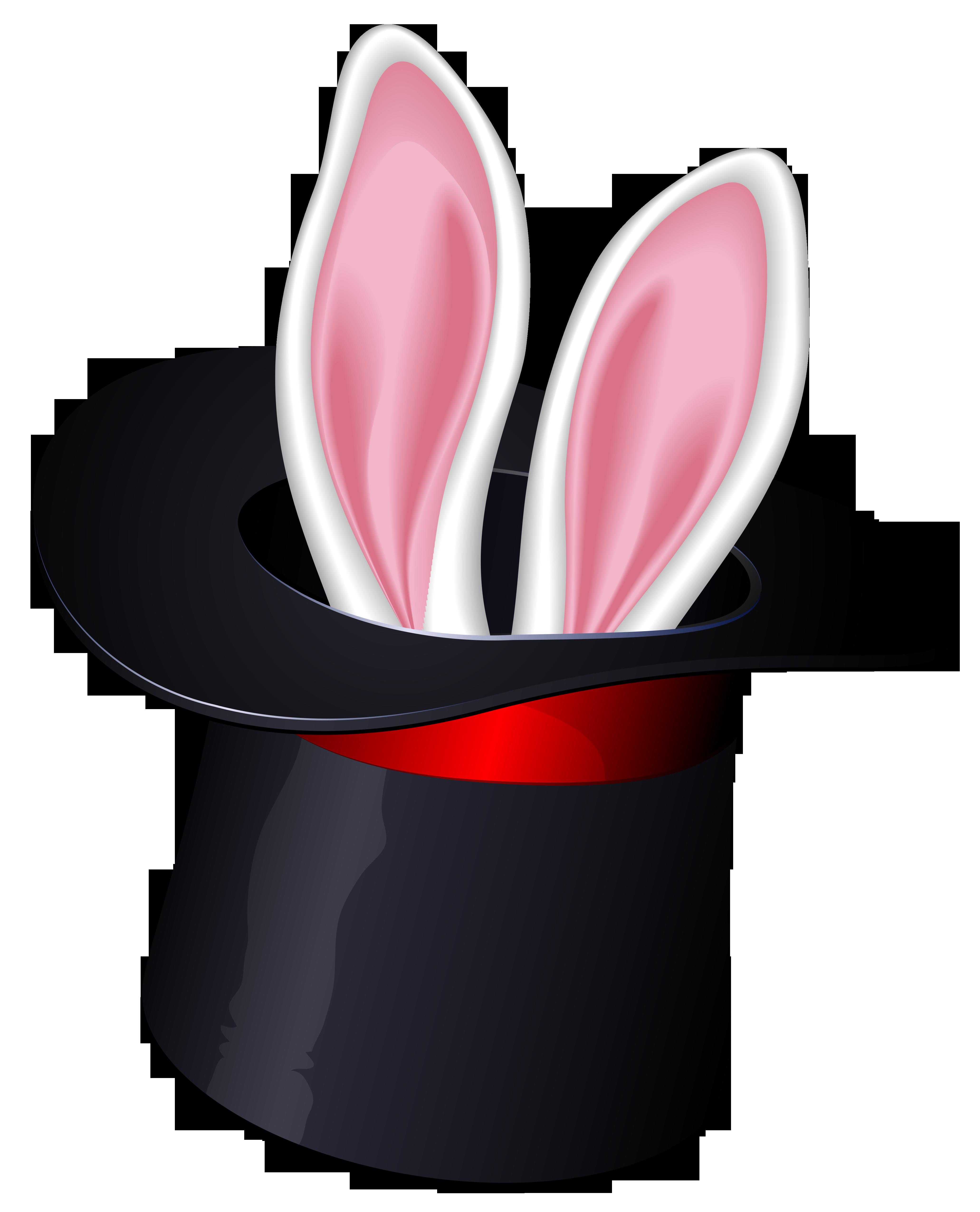 Cool Bunny Magic Hat Clipart