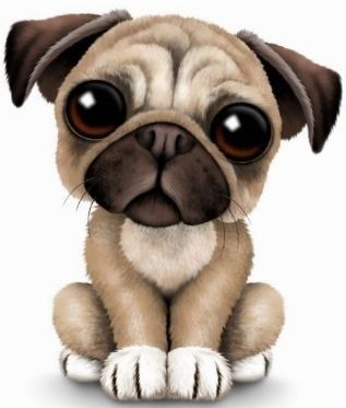 Cool Pugs clip art includes 7 cute dog graphics. Great for oet and