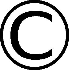 Copyright clip art at vector clip art
