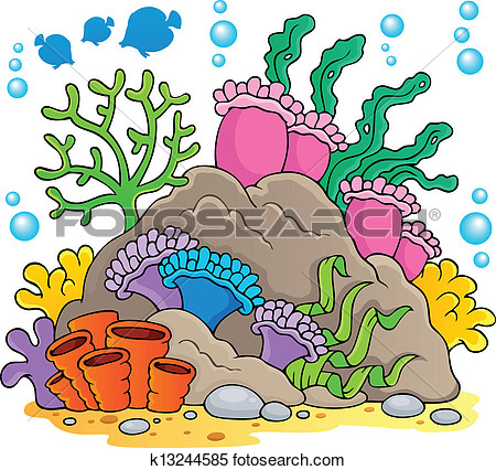 Coral reef theme image 1 - Coral Reef Clipart