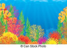 ... Coral reef - Underwater b - Coral Reef Clipart