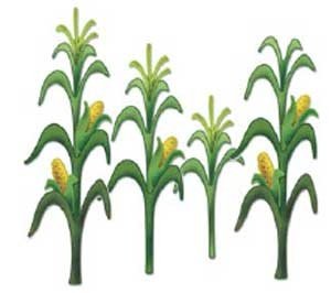 Corn stalks and Signs on . - Corn Stalks Clipart
