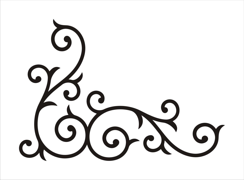 corner scroll vector