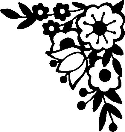 Corner Black And White Clipart