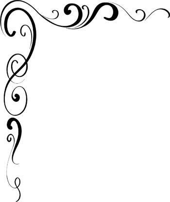 Corner Scroll Borders Clip Art