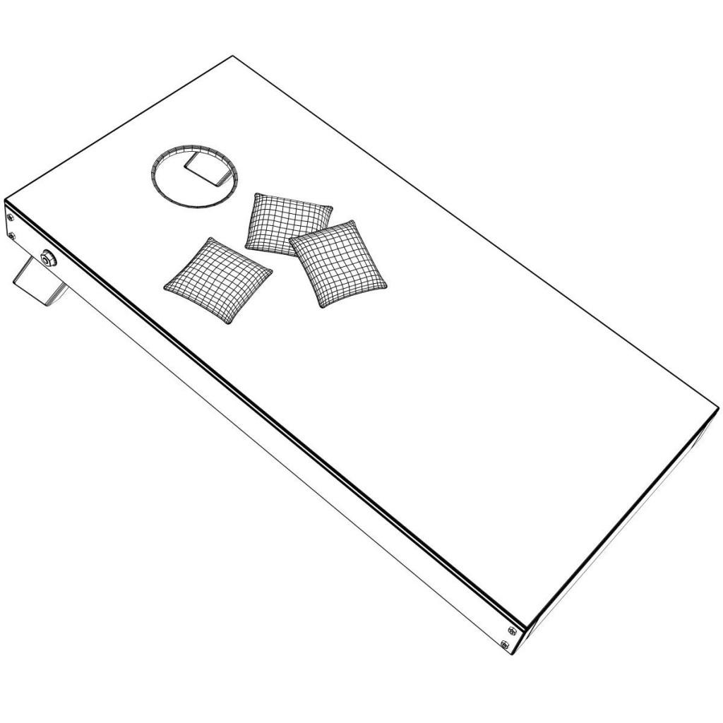 Cornhole Beanbag Game Cornhol - Corn Hole Clip Art
