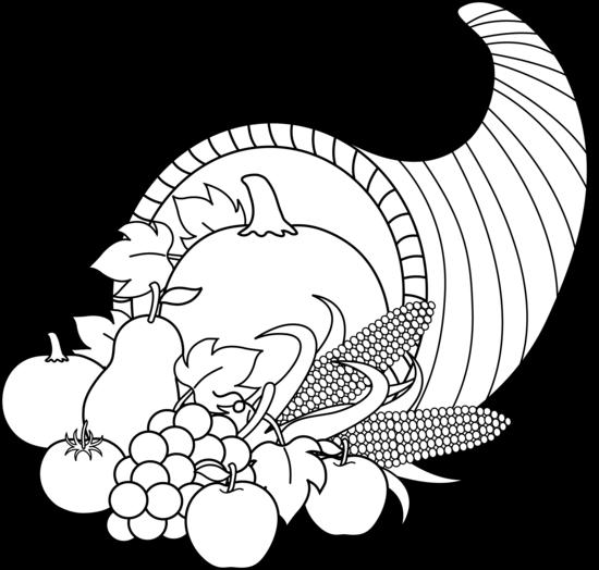 Cornucopia black and white .-Cornucopia black and white .-10
