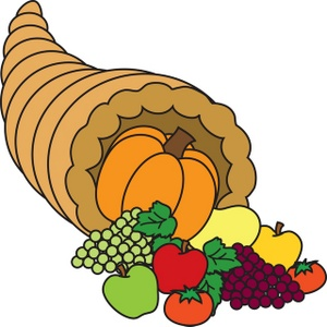 Cornucopia Clipart Image: Thanksgiving Cornucopia