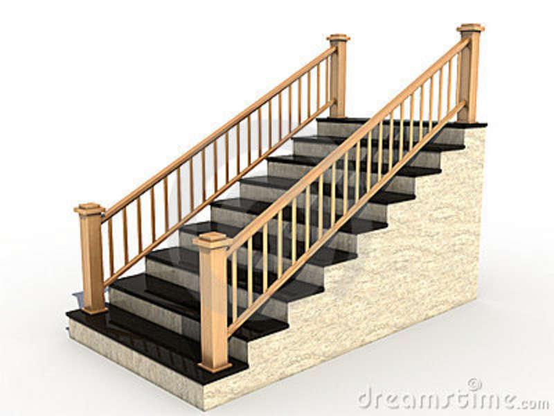 Corrim O De Madeira Fotos E I - Clip Art Stairs