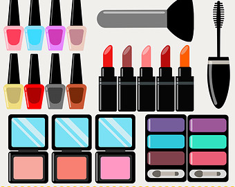 Cosmetics - Colorful Makeup Clipart