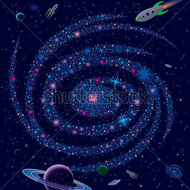 Cosmic Background Galaxy and .